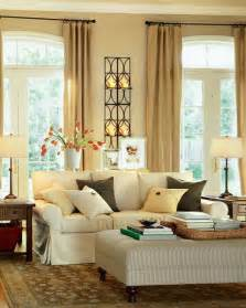Decorative Ideas For Living Room Modern Warm Living Room Interior Decorating Ideas By Potterybarn