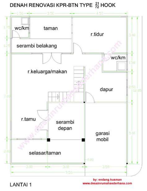 harumah desain rumah minimalis type 21 60 2 lantai