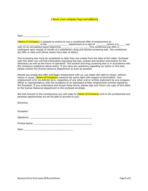 Offer Letter No Start Date offer letter sle in word and pdf formats
