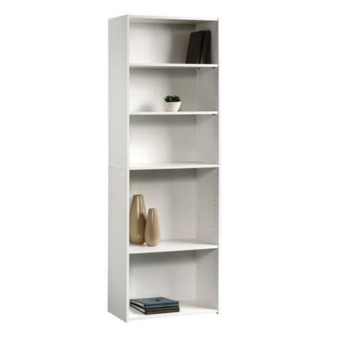 sauder beginnings soft white 5 shelf bookcase at menards 174