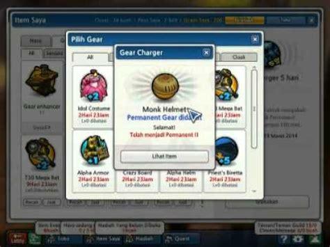 tutorial design gear lost saga event gear charger monk helmet lost saga indonesia