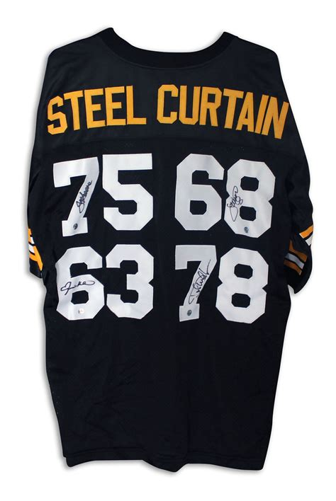 steel curtain jersey steel curtain pittsburgh steelers autographed jersey