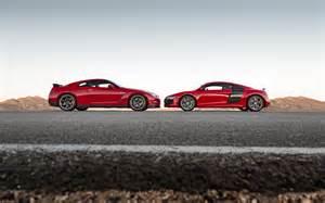 Audi R8 Vs Nissan Gtr 2014 Audi R8 V10 Plus Nissan Gt R Track Pack To