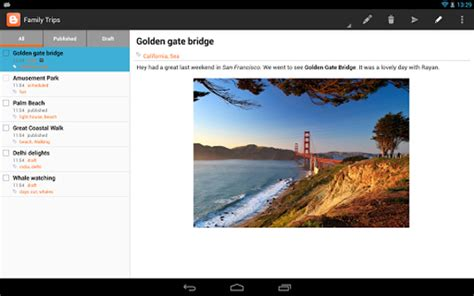blogger support blogger app for android updated brings tablet support finally