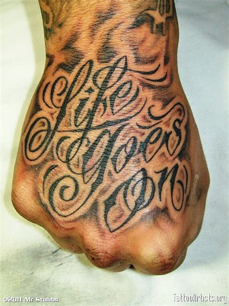 life goes on tattoos goes on artists org