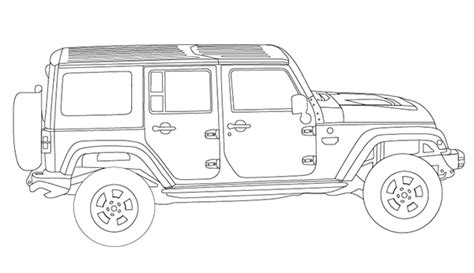 jeep rubicon coloring pages 1000 images about jeep coloring book on pinterest