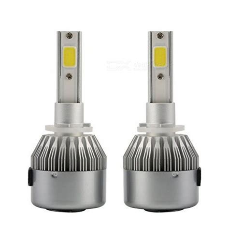 Lu Mobil Led H4 2 Cob 2pcs sencart 2pcs h1 cob chips 3800 lumens 6000k cold white beam bulbs led headlight free shipping