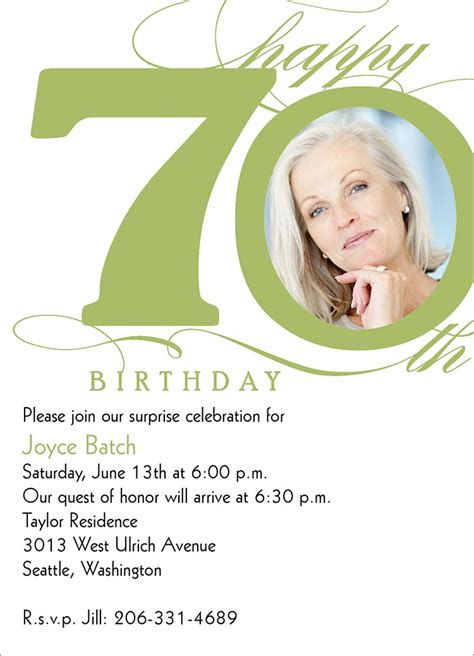 70th Birthday Invites Templates 70th milestone birthday birthday invitations from