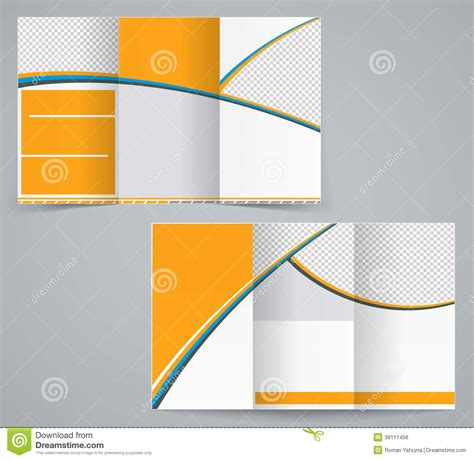 Amazing Stack Fold Church 4 Less #4: Tri-fold-business-brochure-template-vector-orange-design-flyer-38111456.jpg