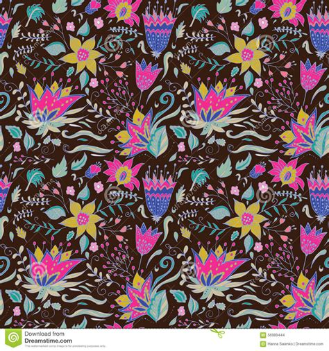abstract seamless floral pattern background free vector abstract elegance seamless floral pattern on a dark