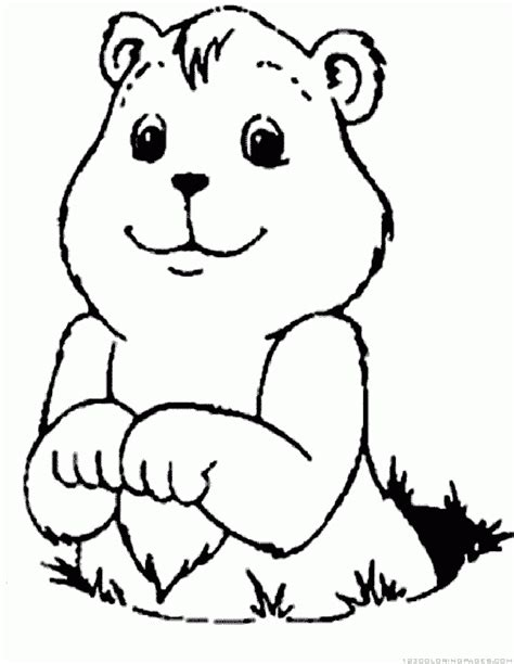 groundhog coloring page groundhog woodchuck coloring pages part 4