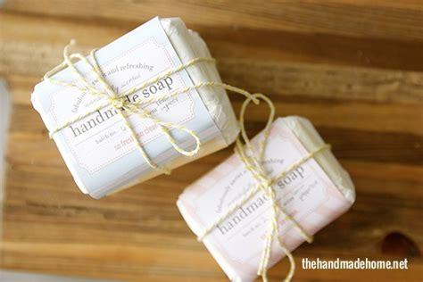 Labels For Handmade Soap - diy spa kit salt soak recipe the handmade home