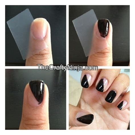 Easy Nails Using Tape | 12 amazing diy nail art designs using scotch tape