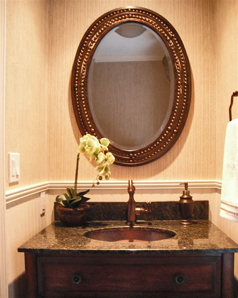 Bathroom Mirror Frame Ideas by Powder Room Vanity