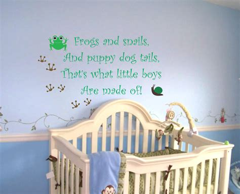 Nursery Wall Decals Quotes Baby Boy Nursery Saying Frogs And Snails Wall Quote Wall Decal