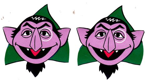 2 quot sesame street count face set character prepasted wall