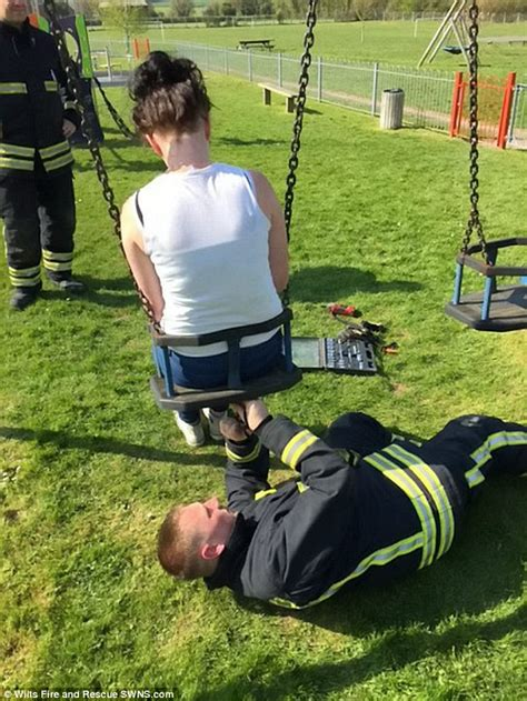 baby boy swing set wiltshire teen rescued by firefighters after getting stuck