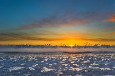 sea smoke frozen beach and sea smoke today s image earthsky