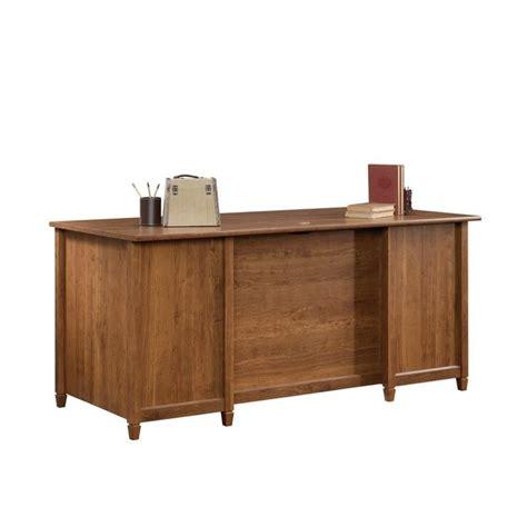 sauder executive desk cherry executive desk in auburn cherry 419100