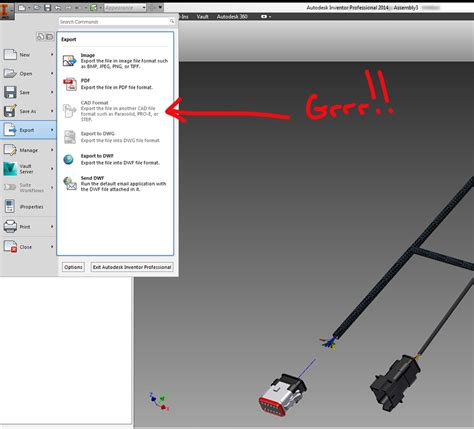 format file inventor export to cad format from ipn file autodesk community