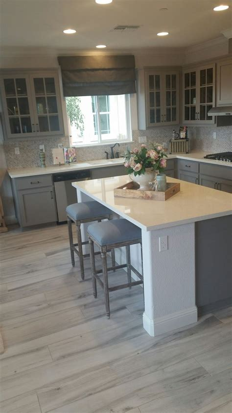 Gray Kitchen Floor Best 25 Blue Gray Kitchens Ideas On Bluish Gray Paint Exterior House Colors Grey