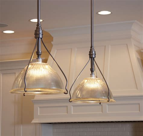Vintage Kitchen Lights Vintage Holophane Pendants Traditional Kitchen Island
