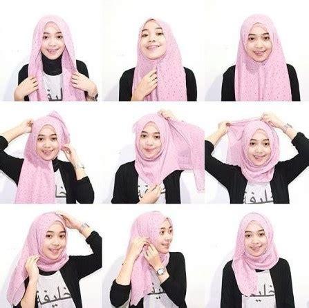 tutorial jilbab pashmina ke kus cara memakai shawl terbaru cara memakai shawl terbaru 27