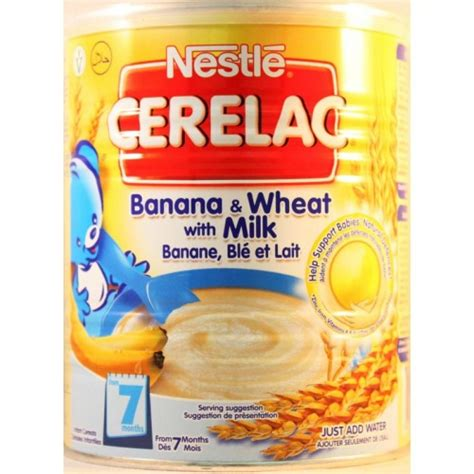 Cerelac Nestle nestle cerelac banana wheat with milk 400g blue