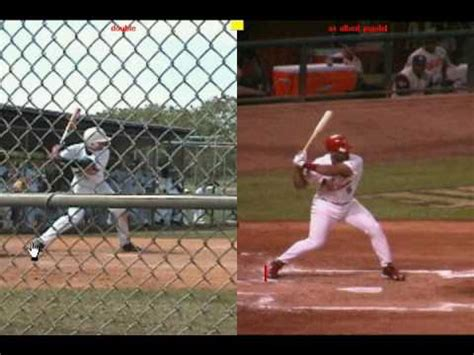 Albert Pujols Swing Analysis swing analysis vs albert pujols