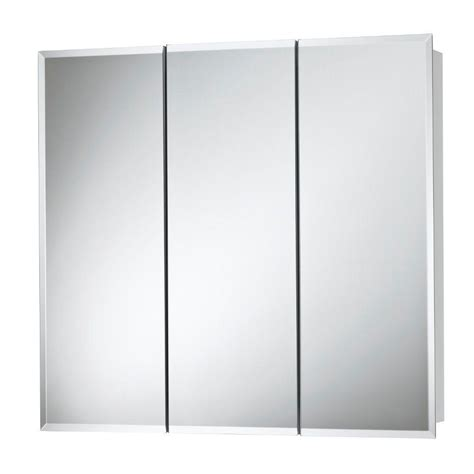 frameless mirrored medicine cabinet recessed glacier bay 48 in x 30 in frameless surface mount