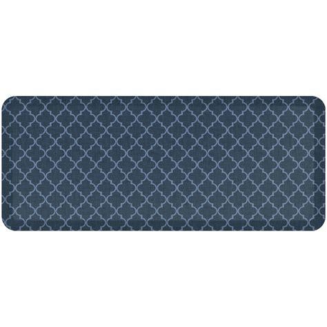 kitchen floor mats walmart newlife by gelpro designer comfort anti fatigue kitchen floor mat 20x48 lattice denim