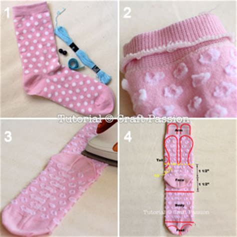 sock bunny free sewing pattern tutorial craft