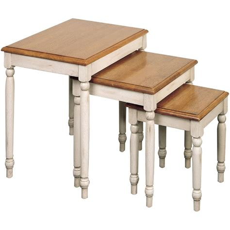3 nesting tables country cottage 3 nesting tables in nesting table sets