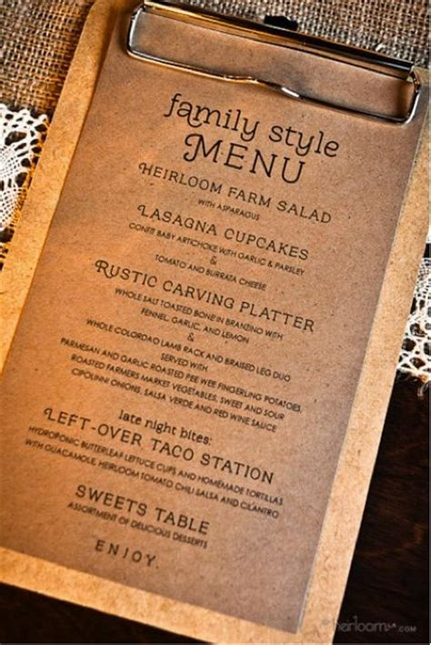 25 best ideas about menu cards on wedding
