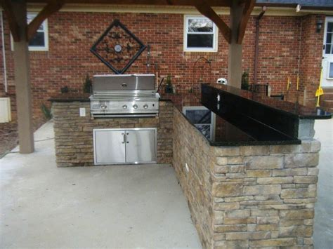 Kitchen Stone Backsplash Ideas by Outdoor Kitchen Grill And Patio Ideas 5 24 14 Youtube