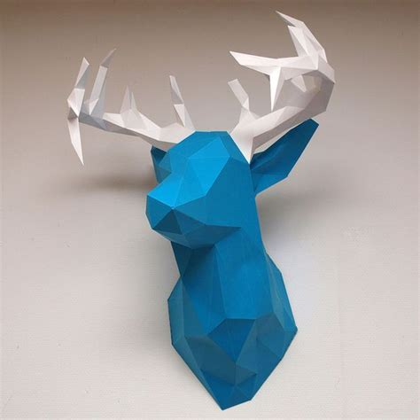 Papercraft Deer - create faceted papercraft objects pictures of deer and