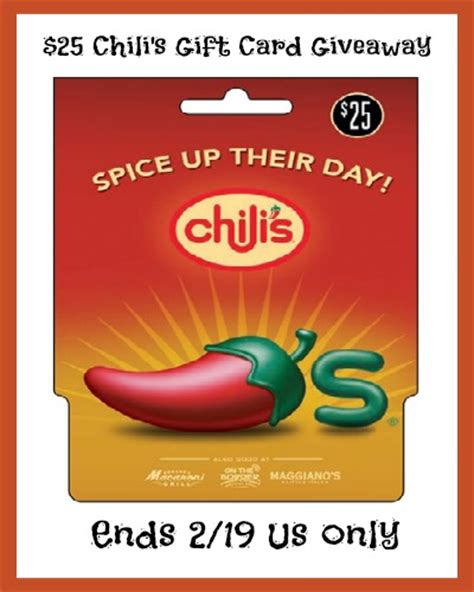 Chili S Gift Card Discount - 25 chili s gift card giveaway sparkles to sprinkles