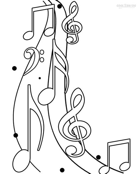 coloring pages free music printable music note coloring pages for kids cool2bkids