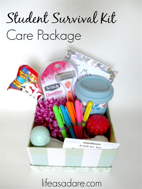 Best Gift Cards For College Students - 13 college care package item ideas life as a dare