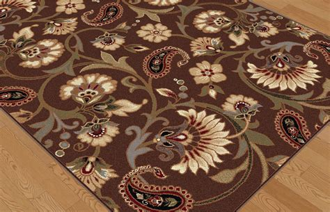 green paisley rug brown casual floral vines area rug transitional ivory green blue paisley carpet ebay
