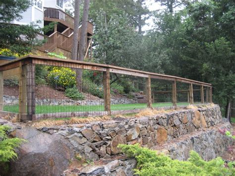 Fence Backyard Ideas Backyard Fence Ideas Backyard Fence Surrounded By Forest Backyard Backyard