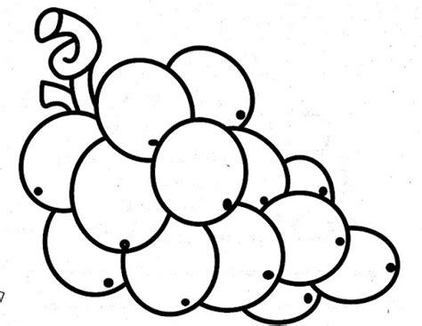 imagenes uvas para pintar uva para colorear infantil imagui