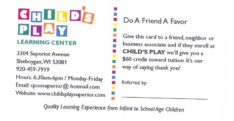 Daycare Payment Reminder Letter Childs Play Learning Center News Announcements Celebrations And Information About Your Center