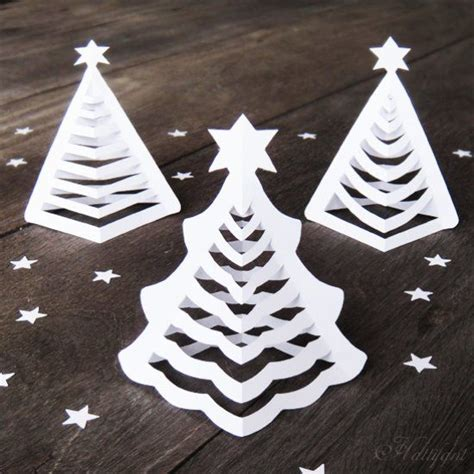 How To Make Paper Look 3d - diy origami 3d paper trees that will look