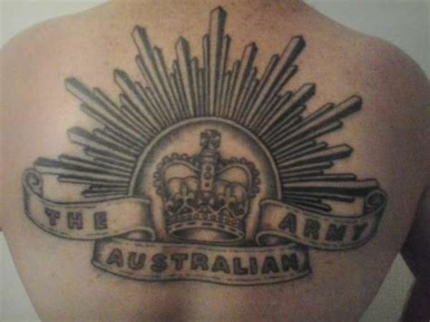 anzac tattoo designs anzac rising sun