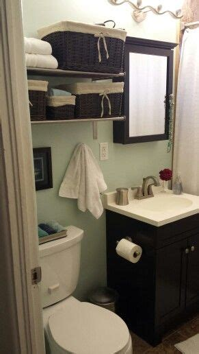 how to make a small bathroom look like a spa this storage is similar to what i envision our final