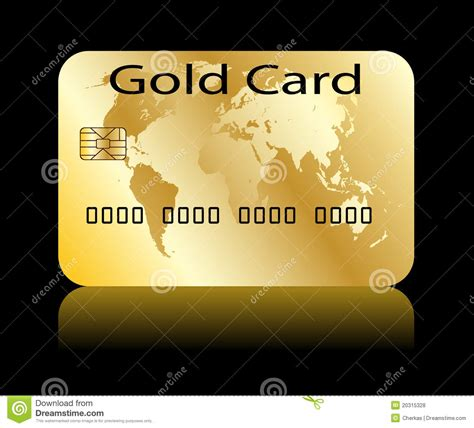Or Card Gold Card Stock Illustration Image Of Payment Copy