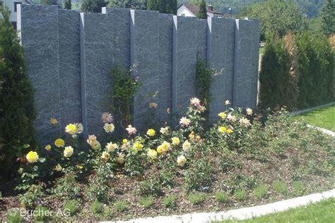 garten im mã rz pflanzen stelen stein granit sichtschutz bildergalerie bucher ag