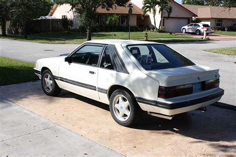 3rd generation white 1983 ford mustang gt 5 0l 5spd for