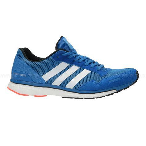 adidas adizero adios boost 3 running shoe blue